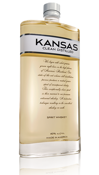 Kansas Whiskey Bottle. Kansas Clean Distilled Whiskey Bottle. Beautiful Whiskey Bottle. Amazing bottle design.