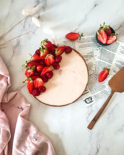 Tarte panacotta fraise