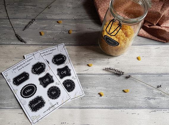 Planche de stickers pour la cuisine