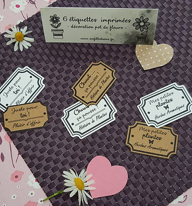 Etiquettes pour pots de fleurs