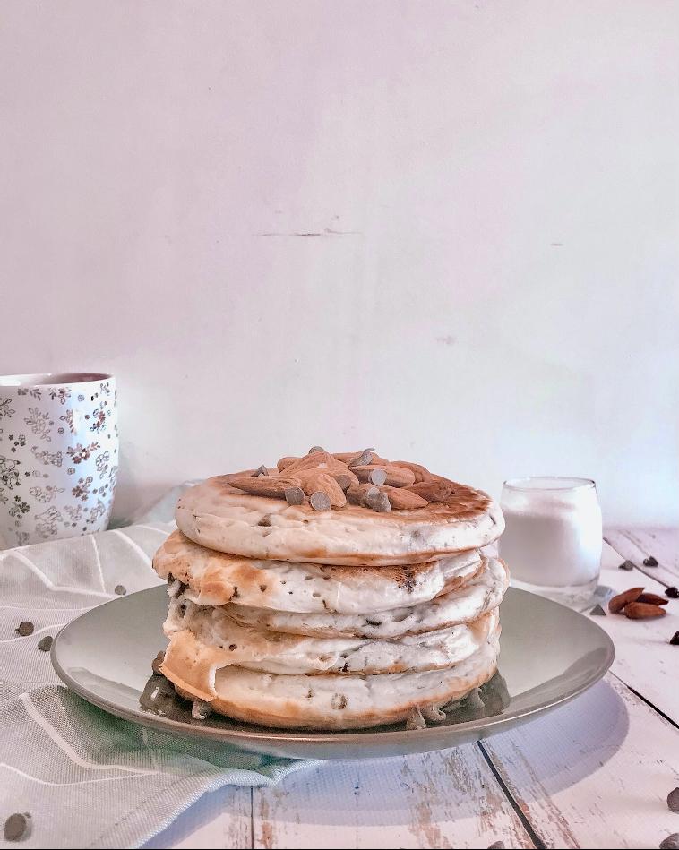 Les pancakes aux pépites de chocolat
