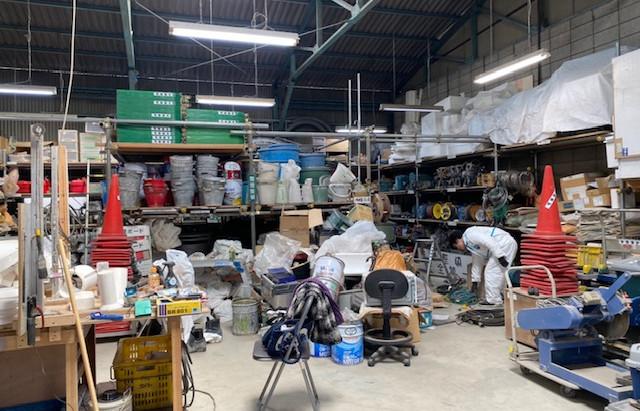倉庫整理をしています!