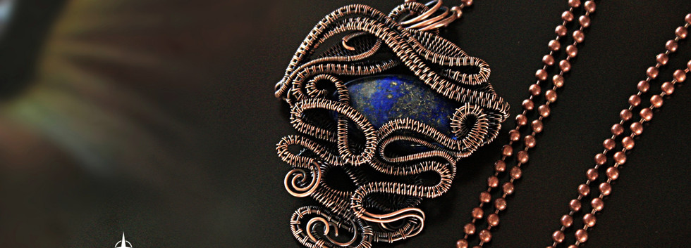 Large Wire Woven Pendant