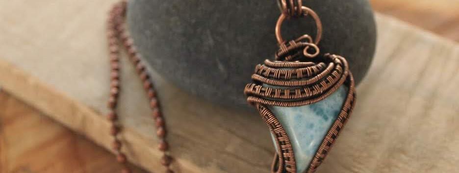 Larimar in copper