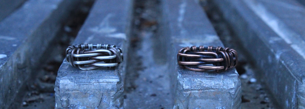 Men's Renegade Rings- Silver and Copper.