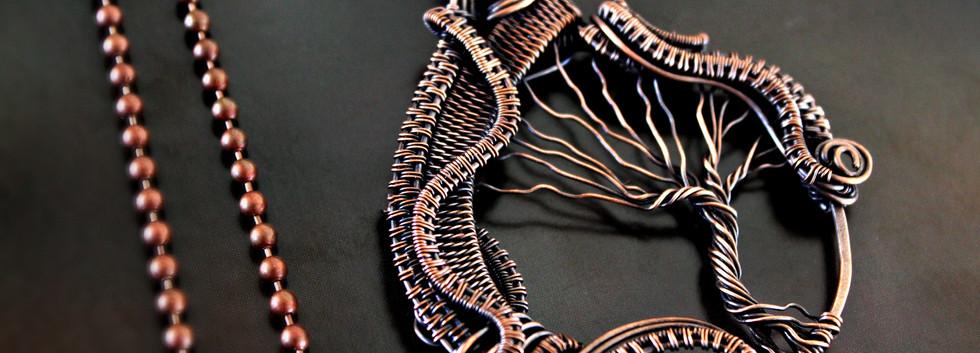 copper wire woven tree of life pendant.j
