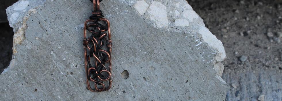 Men's Renegade Pedant- Copper Rectangle.