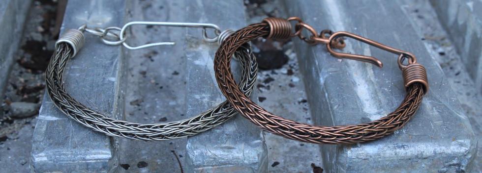 Men's Renegade Bracelets- Silver and cop