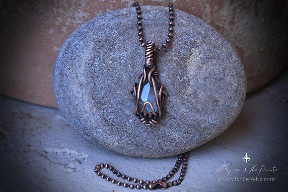 Revna : Copper Wire Wrapped Pendant