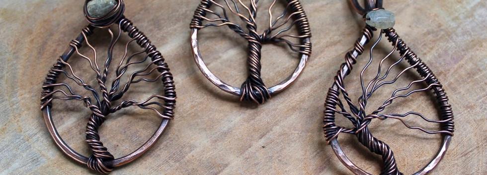 tree of life pendants with citrine gemst