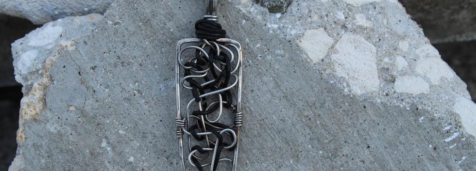 Men's Renegade Pendant- Silver Rectangle