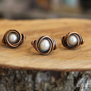 Pearl copper rings