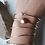 Thumbnail: Sterling Silver Bangle with copper heart/leaf