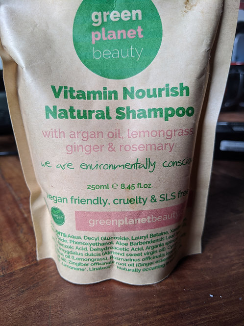 Green plant natural shampoo 250ml refill pack