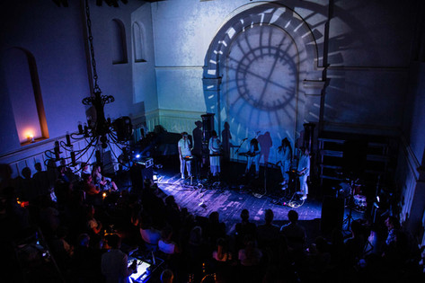 Visuals for IKI concert at Litteraturhaus