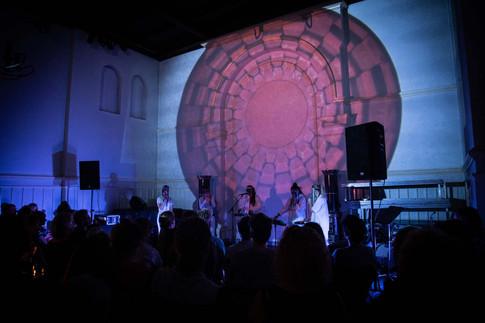 Visuals for IKI concert at Litteraturhaus