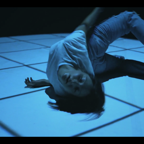 Still from René Odsgaard's videos from the performance