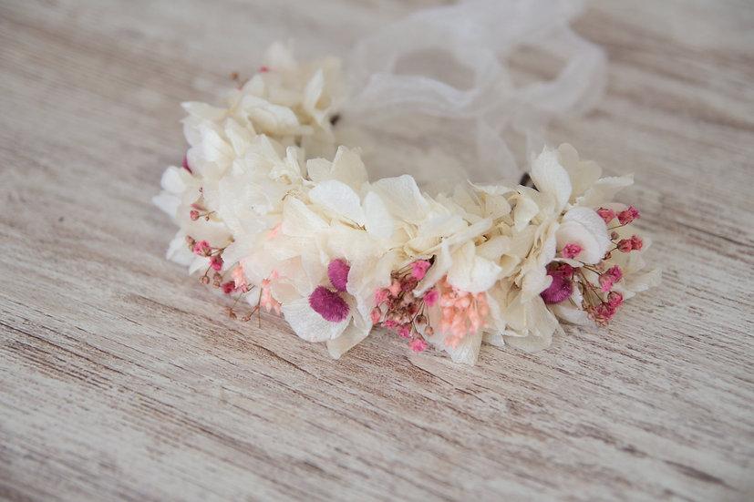 Pulsera blanca rosa