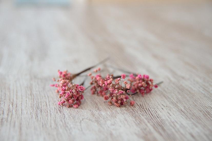 Horquilla flor rosa