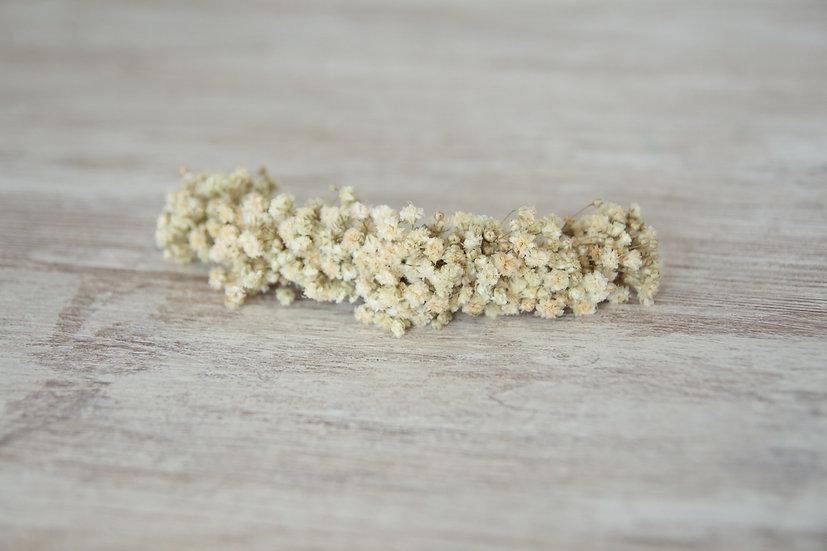 Tocado flor preservada beige