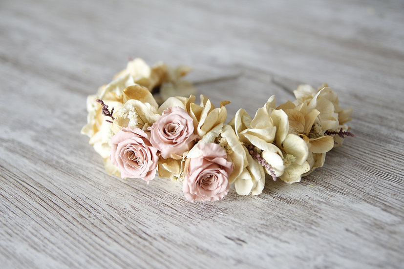 Diadema flor rosa