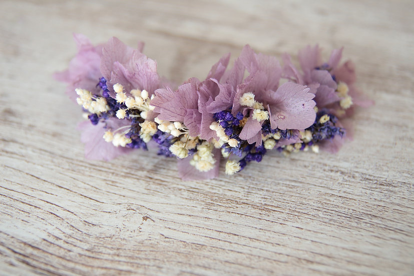Tocado lila flor