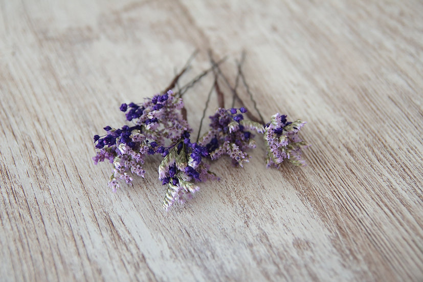 Horquilla flor lila