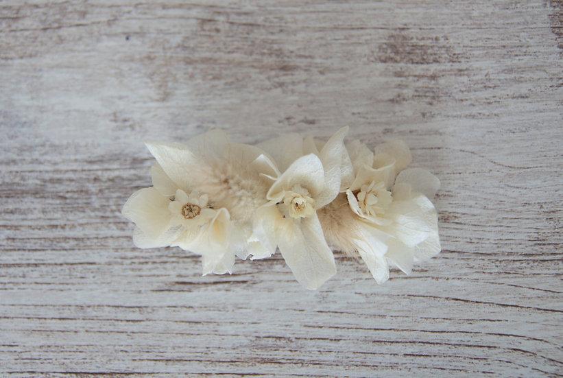 Pinza hortensia beige