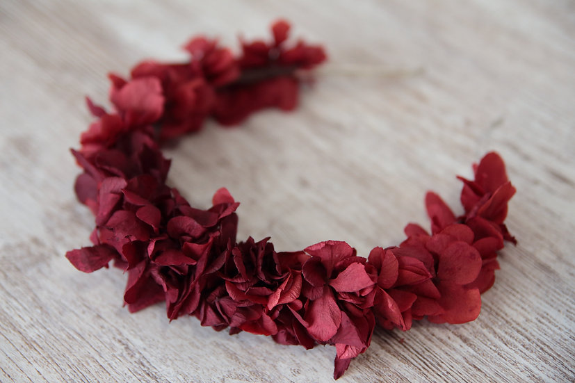 Diadema roja flor