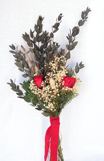 Ramo flor novia rosa roja