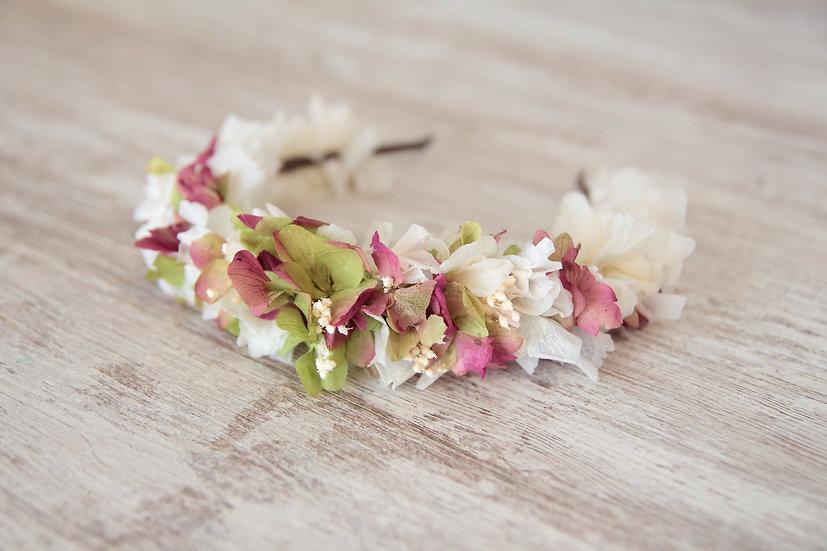 Diadema flor preservada silvestre