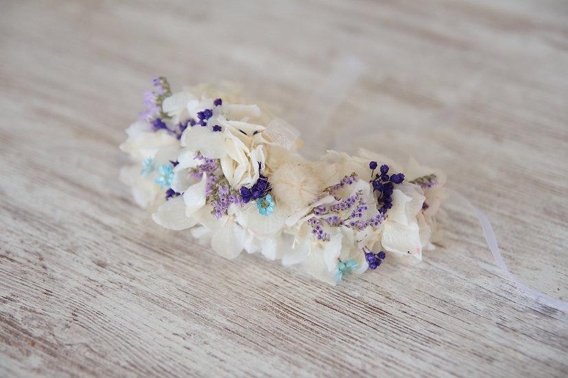 Pulsera flor preservada boda dama honor
