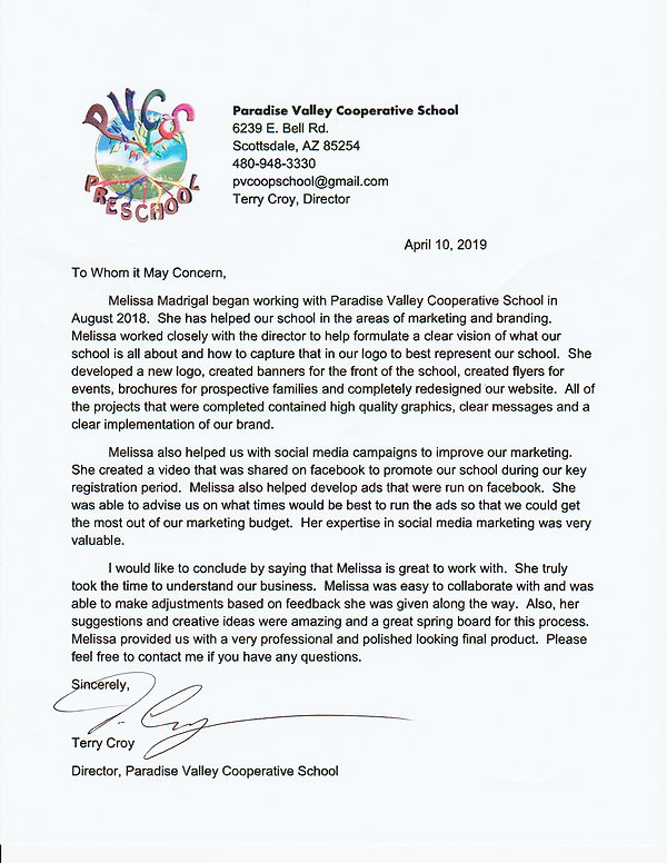 PVCS letter of recommendation_Melissa_Ma