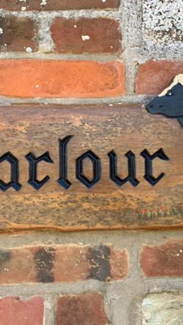 Parlour Cottage sign