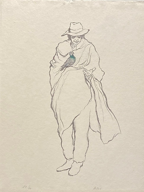 Lithographie originale de Pierre Risch