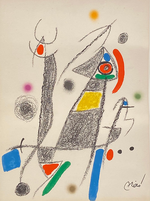 Lithographie originale de Miro