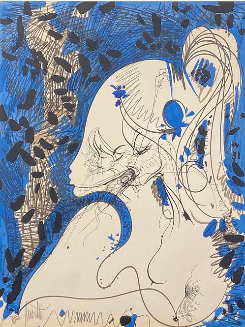 Lithographie originale de Raymond Moretti
