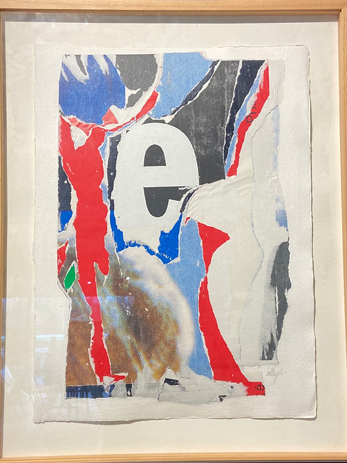 Lithographie originale de Villeglé