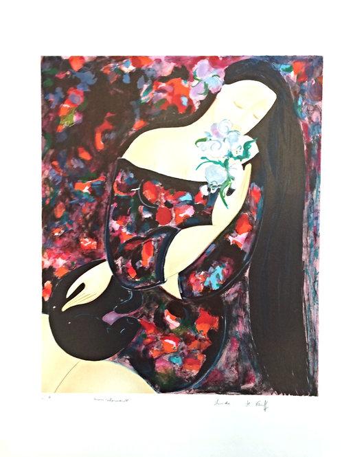 Lithographie originale - Linda Le Kinff