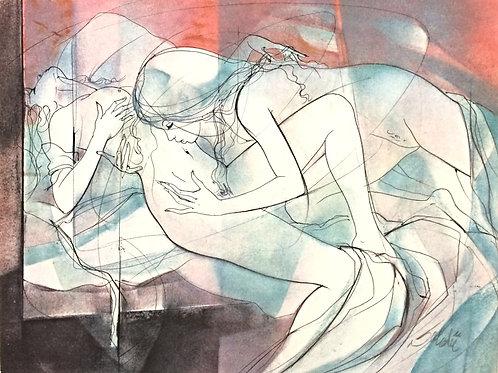 Lithographie originale - Valadié