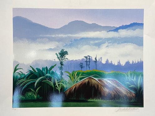 Lithographie originale de Battut