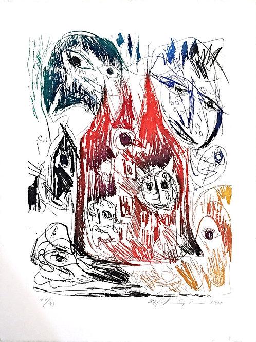 Lithographie originale - Carl-Henning Pedersen