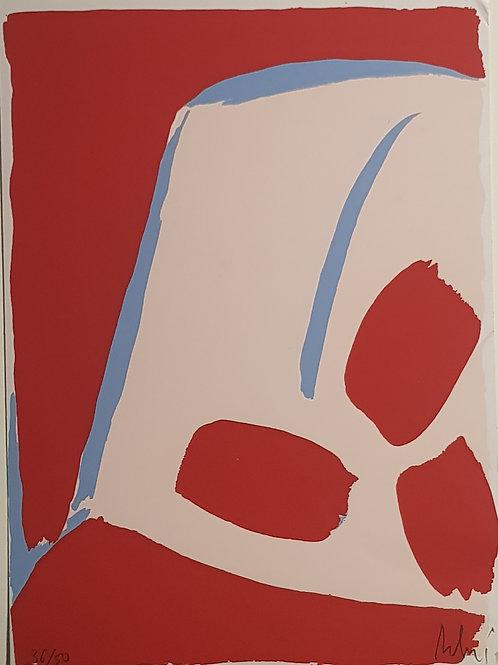 Lithographie originale de Olivier Debré