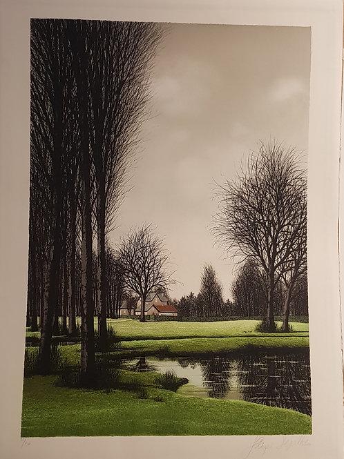 Lithographie originale de Jacques Deperthes