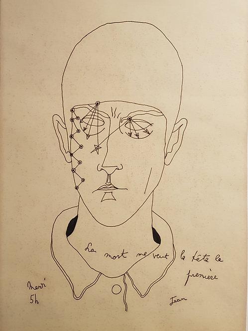 Lithographie originale de Cocteau