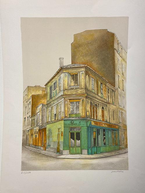 Lithographie originale de Jean Keime