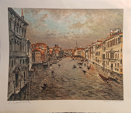 Lithographie originale de Hambourg