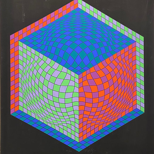 Lithographie originale de Vasarely