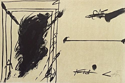 La ligne d'horizon - Antoni Tapies