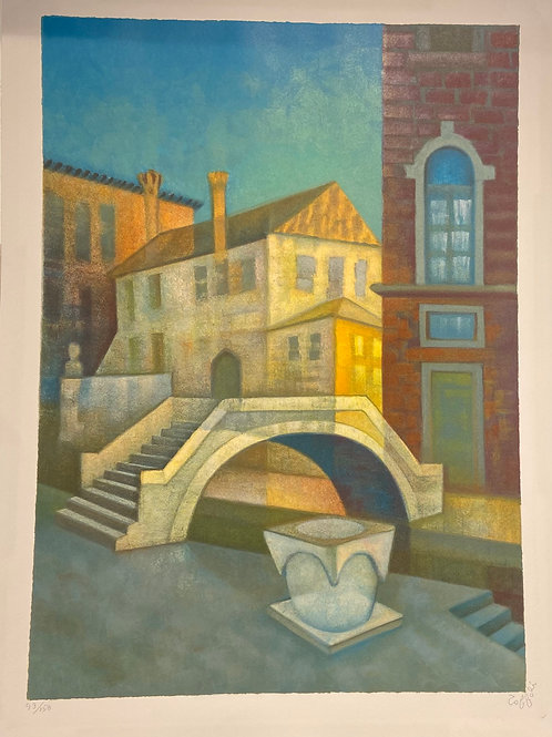 Lithographie originale de Toffoli